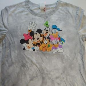 Tops - Women Tie dye Retro Mickey & Friends Crop T-Shirt